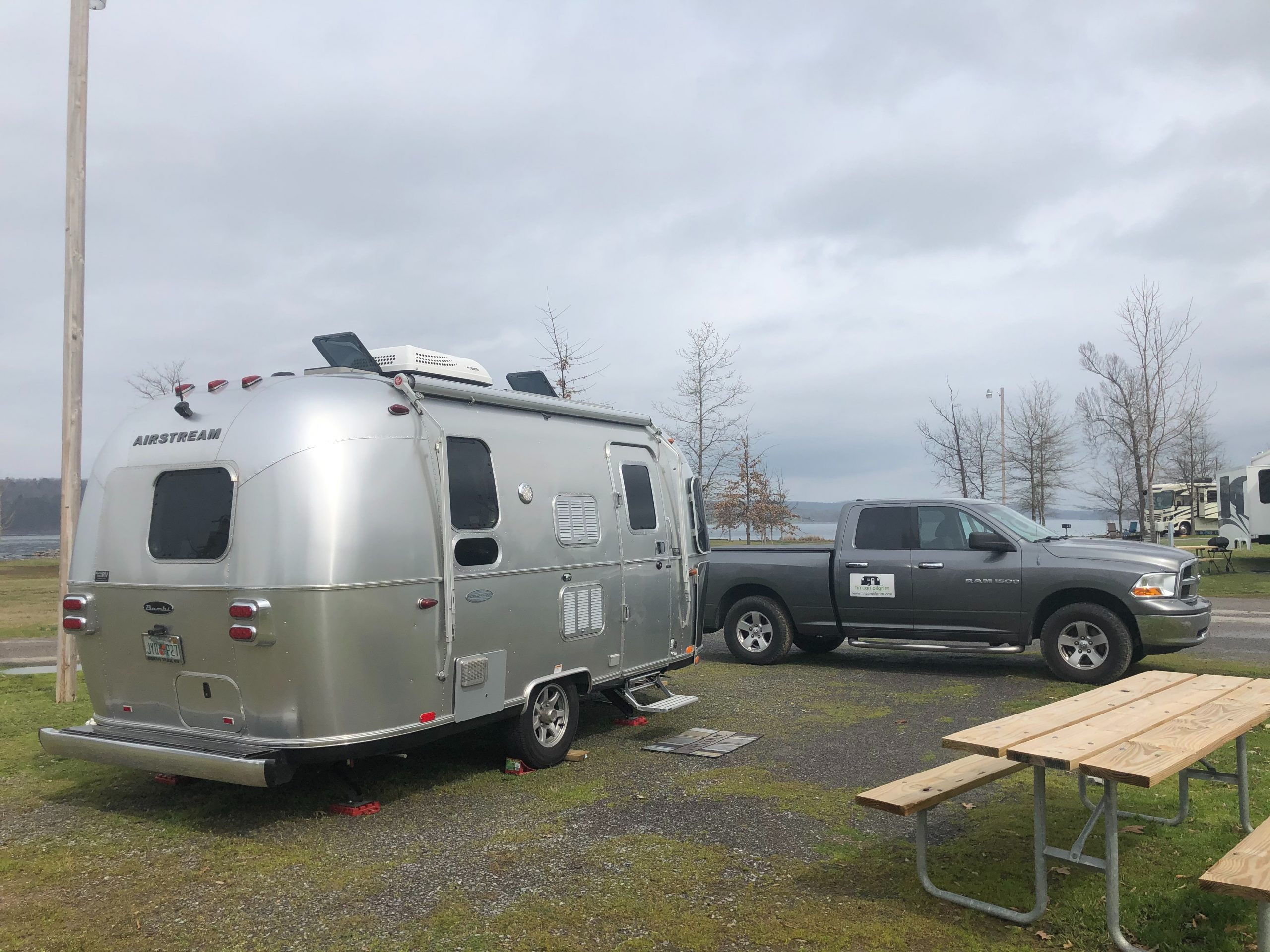 Lynda Rozell's Airstream and Truck; the new rig for Tin Can Pilgrim