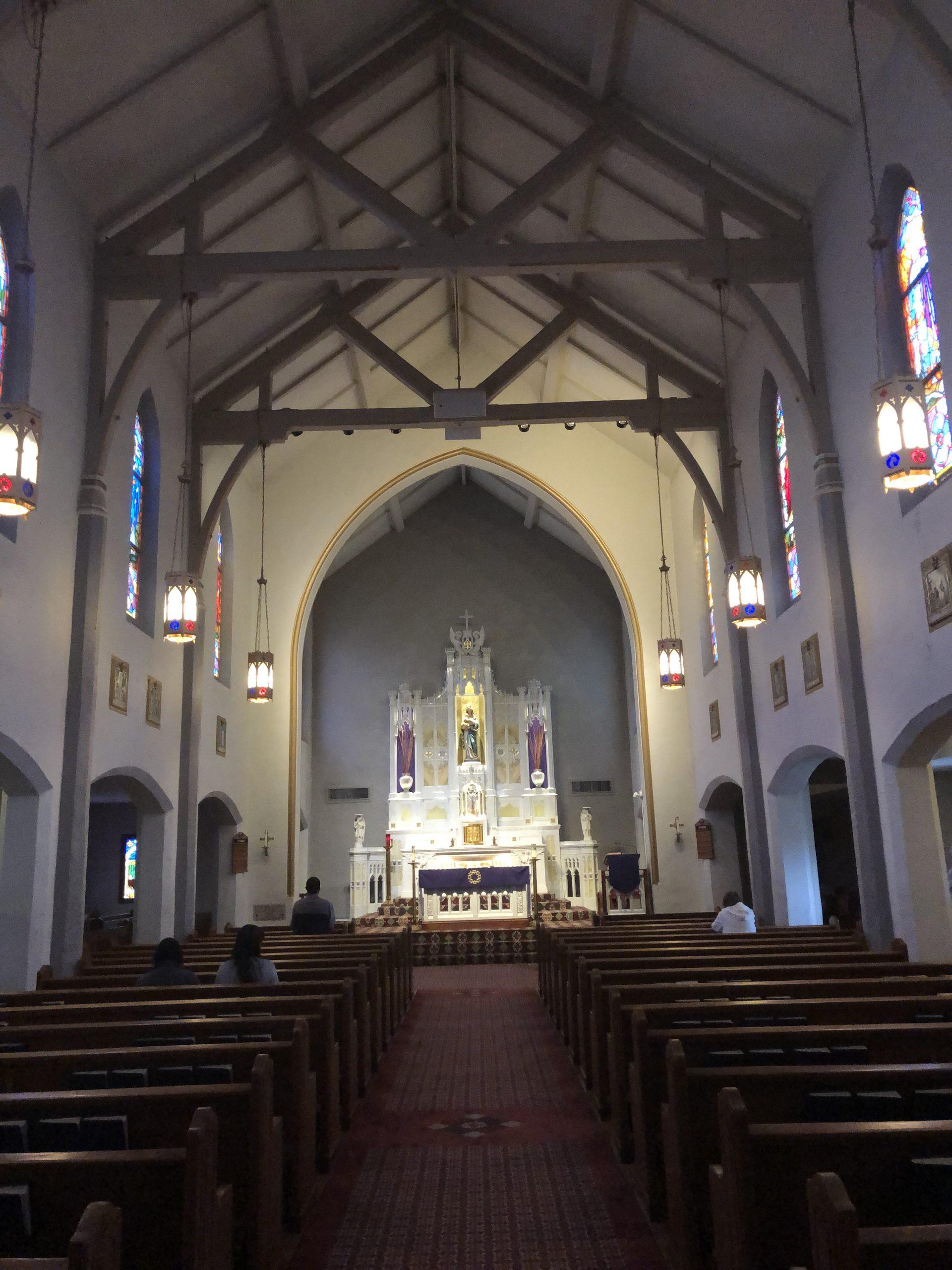 Interior St Mary Catholic Church Rome GA