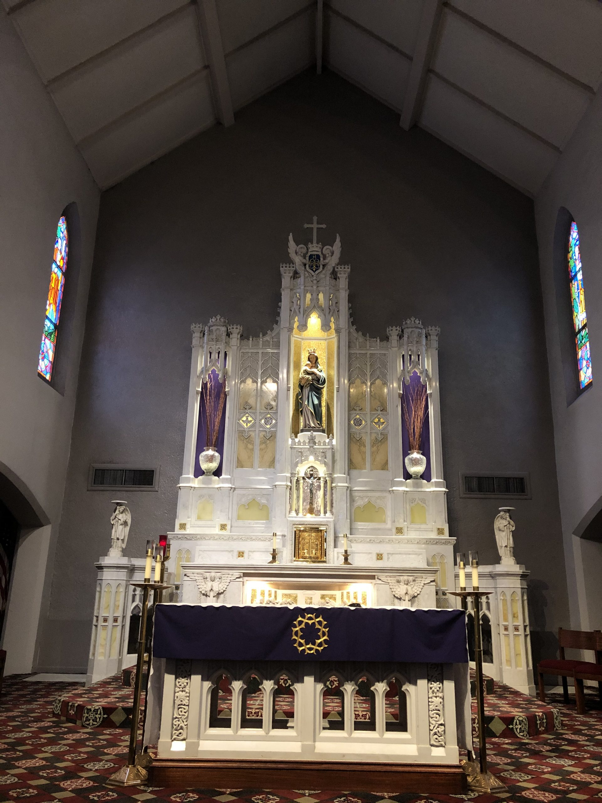 Table Altar and HIgh Altar at St. Mary Rome GA