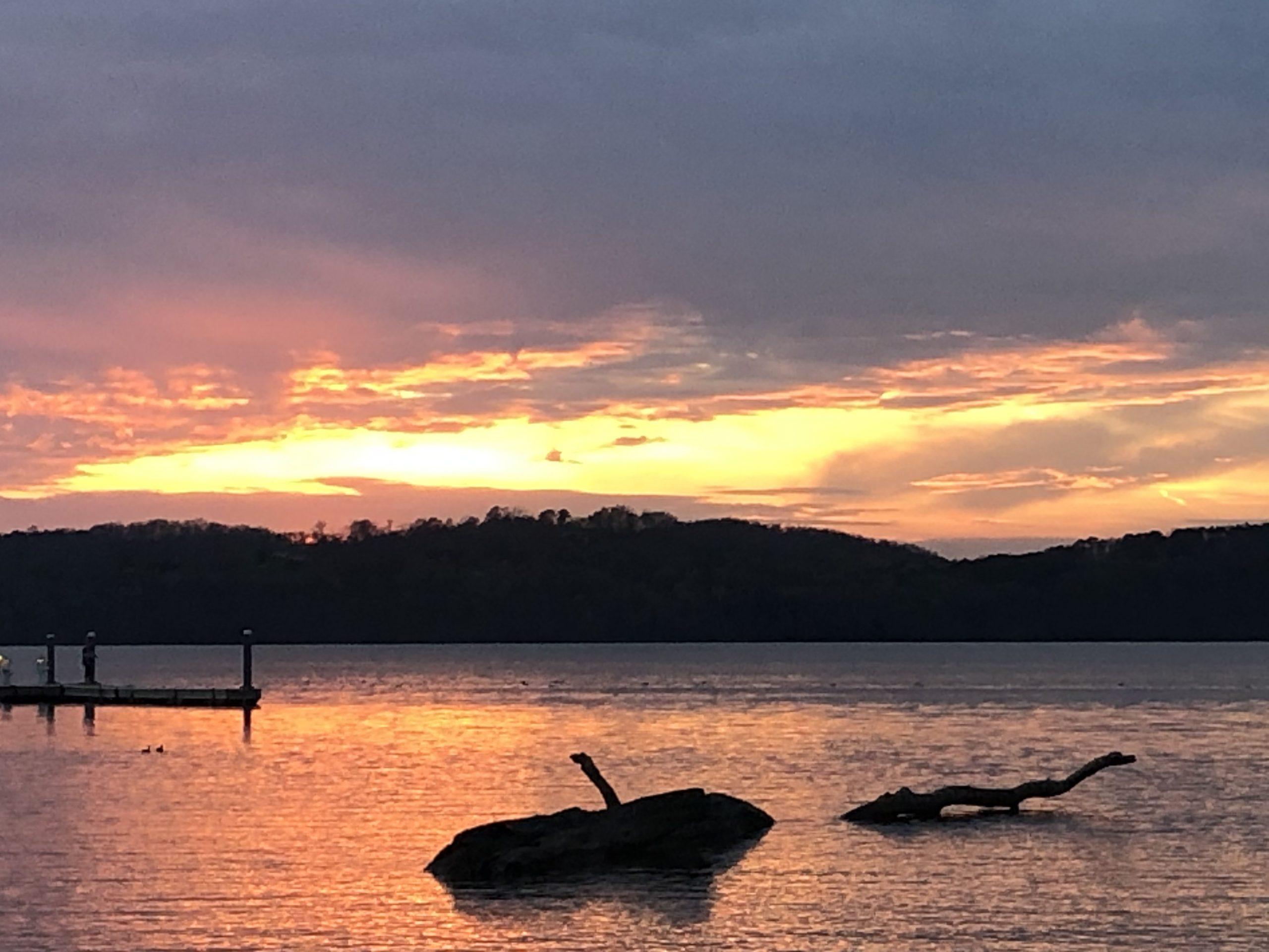 Sunset at Lake Guntersville, to Gaze on the Lord's Beauty Psalm 27