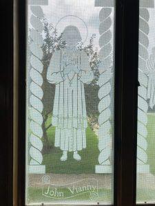 Frosted glass window Saint John Vianney