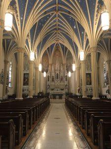 Entering Saint Mary Church Inspiring Awe in Annapolis