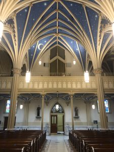 Entrance to Saint Mary Church Inspiring Awe In Annapolis