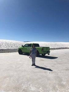 Perspective White Sands Desert