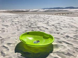 Sled at White Sands National Monument